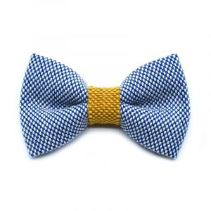 YUMI BOW TIE - ice blue | yellow