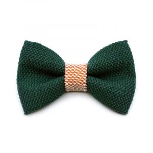 YUMI BOW TIE - moss green | pink
