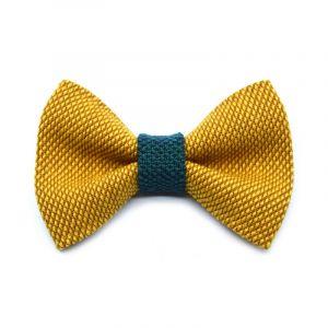 NŒUD PAPILLON YUMI - jaune | vert mousse
