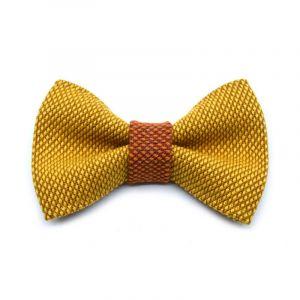 NŒUD PAPILLON YUMI - jaune | cognac