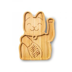 Bamboo Plate, Lucky Cat
