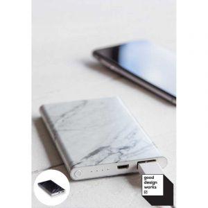 Batterie de secours effet marbre blac