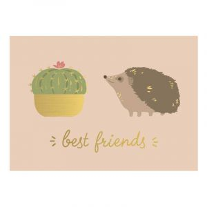 Best Friends Hedgehog Postcard