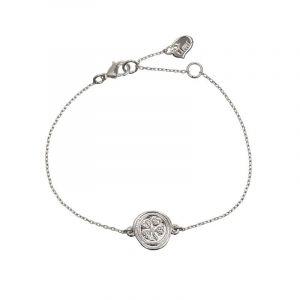Clover Plate Bracelet Silver