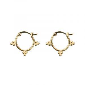 Boho Small Hoop Earrings - Gold