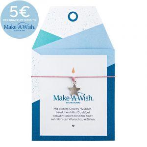 Make A Wish Star Silk Bracelet Old Rose