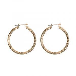 Big Swirly Hoop Earrings - Gold