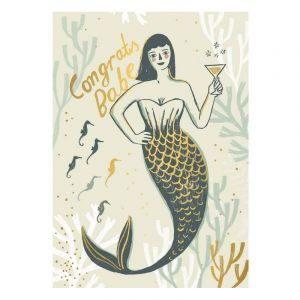 Mermaid Babe Postcard