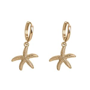 Starfish Hoop Earrings - Gold