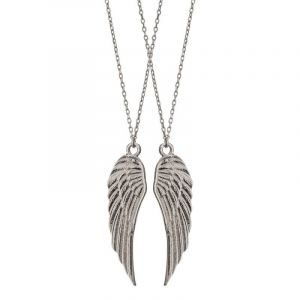 Wings Friendship Necklace - Silver
