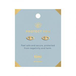Protect you Evil Eye Earrings - Gold