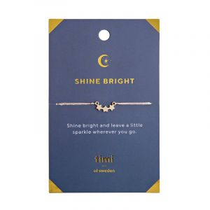 Shine Bright Three Star bracelet, Gold - Pink