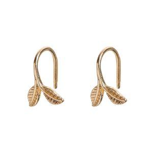 Delicate Leaf Earrings - Gold