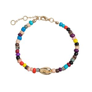 Cowrie Shell and Beads Bracelet - Gold