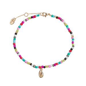 Cowrie Shell and Beads Anklet - Gold