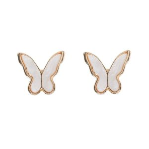 Butterfly Stud Earrings - Gold