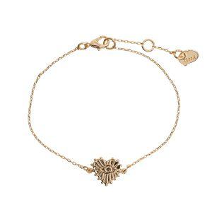 Evil Eye Heart  Bracelet - Gold