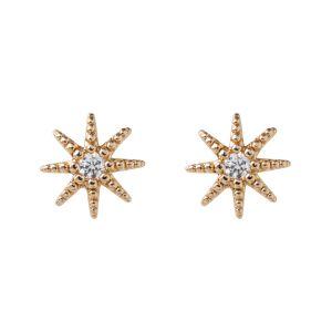 Chrystal Star Stud Earring - Gold