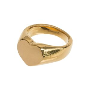 Chunky Heart Love Ring - Gold