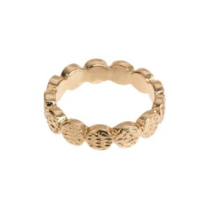 Hammered Top Ring - Gold