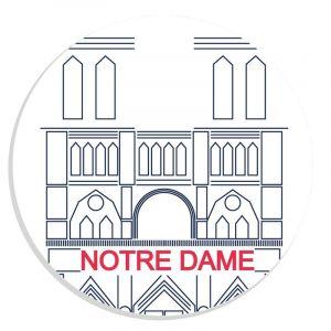 Autocollant Notre Dame