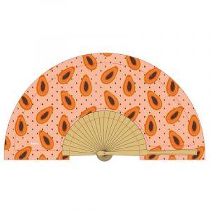 Papaya Wooden Fan