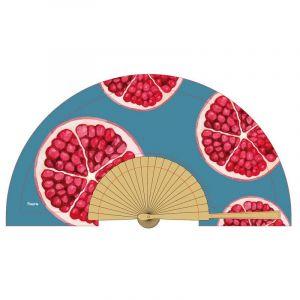 Pomegranate Wooden Fan