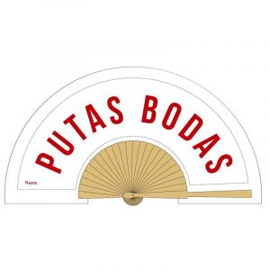 Putas Bodas Wooden Fan - ESP