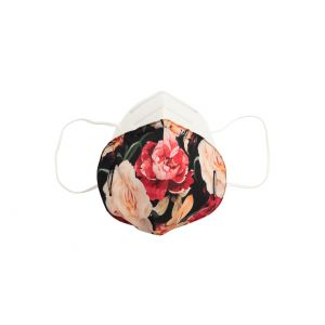 Sur-masque pour FFP2 Flowers dark rose