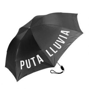Parapluie pliable noir 'Puta Lluvia'