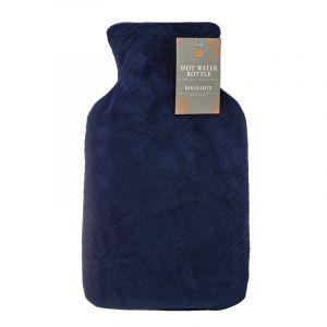 Navy Velvet Hot Water Bottle 2l
