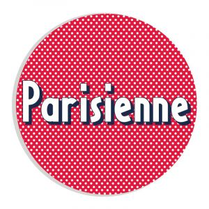 Autocollant Parisienne à pois