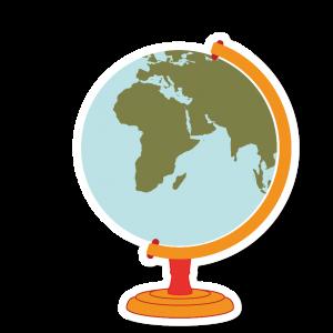Autocollant Globe