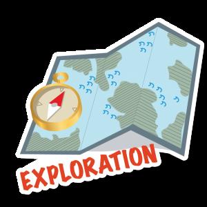 Autocollant Exploration