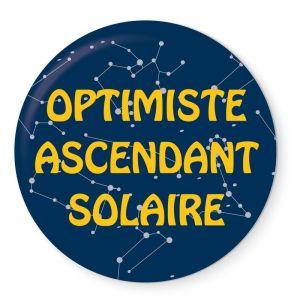 Badge Optimiste Ascendant Solaire