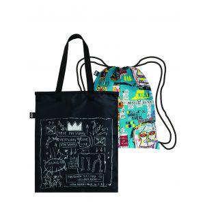 Duo backpack Jean Michel Basquiat - Crown & Skull