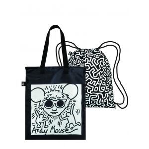 Duo backpack Keith Haring - Andy Mouse & Untitled