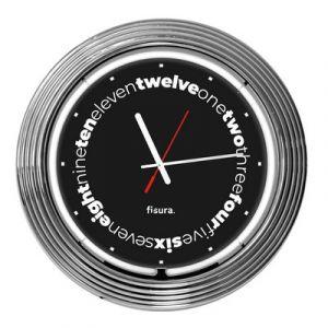 Horloge Néon Noire-Diamètre 38 cm