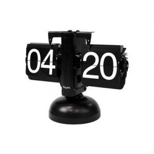 Clock Table 'Flip' Black