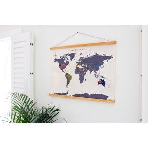 Carte du Monde Point de Croix à broder PM