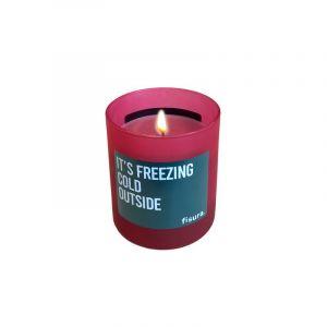 Bougie 'It's freezing cold outside' en verre