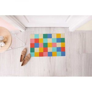Doormat Summer Squares' Multicolor