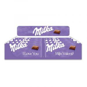Table Display Milka 100g Valentine's Netherlands/Flanders, 48 pcs, 4 different texts