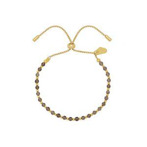Bracelet Amelia - Plaqué or - Quartz fumé