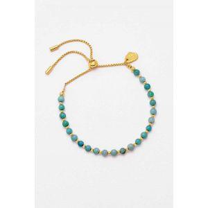 Bracelet Amelia - Plaqué or - Amazonite brillante