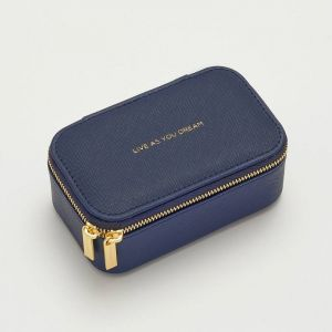 Mini Jewellery Box - Navy