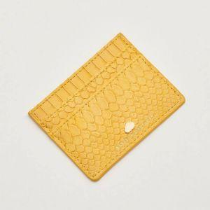 Card Holder - Mustard Snake