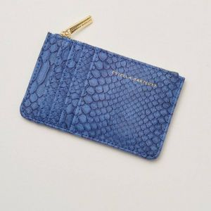 Rectangle Card Purse -  Navy Snake