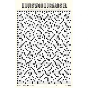 XL Poster Kruiswoordraadsel