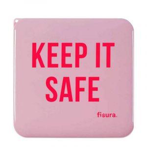 Boîte à masques faciaux Keep it safe, rose